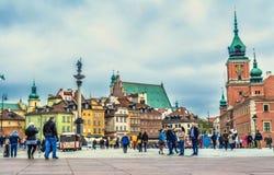 Warszawa, Polska †'Maj 07, 2017: Plac Zamkowy - grodowy kwadrat w Warszawa Zdjęcie Royalty Free