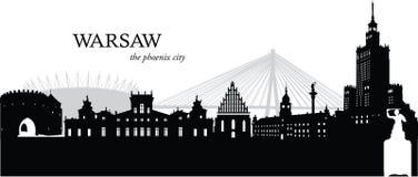 Warszawa, Polska Ilustracja Wektor