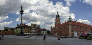 Warszawa Polska, Czerwiec, - 23, 2016 Przy grodowym kwadratem stary miasteczko w Warszawa Obraz Stock