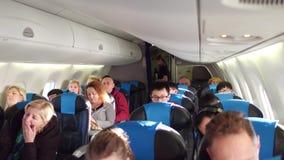 WARSZAWA POLSKA, GRUDZIEŃ, -, 24 Samolotu kabinowy pełny pasażery Obrazy Royalty Free