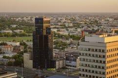 WARSZAWA, POLSKA - JMAY 22, 2018 Powietrzny trutnia widok od above obrazy royalty free