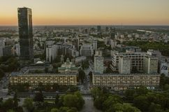 WARSZAWA, POLSKA - JMAY 22, 2018 Powietrzny trutnia widok od above obraz stock