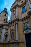 Warszawa, Polska, Marzec 9, 2019: Piękny widok kościół w starym miasteczku Warszawa zdjęcia royalty free