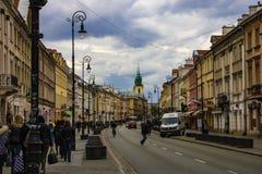 Warszawa, Polska, Marzec 10, 2019: Stara część miasto w Warszawa zdjęcie stock