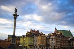 Warszawa, Polska, Marzec 10, 2019: Stary Warszawski miasto na słonecznym dniu fotografia stock