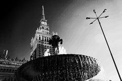 Warszawa, Polska, pałac kultura i nauka, Obraz Stock