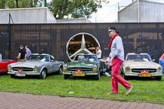 Warszawa Polska, Sierpień, - 07, 2016: Wystawa klasyk Mercedez w Warszawa i rocznik Obraz Royalty Free