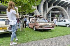 Warszawa Polska, Sierpień, - 07, 2016: Wystawa klasyk Mercedez w Warszawa i rocznik Zdjęcie Stock