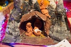 WARSZAWA POLSKA, STYCZEŃ, - 01, 2016: Bożenarodzeniowa narodzenie jezusa scena Obraz Stock