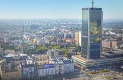 Warszawa - September 12, 2014 beskåda från taklägga Fotografering för Bildbyråer