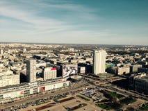 Warszawa - stadskärna Royaltyfria Foton