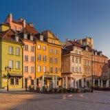 Warszawabyggnader Arkivbilder