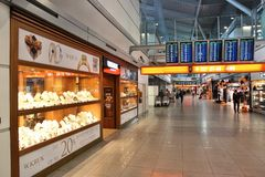 Warszawaflygplats Arkivfoto