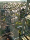 Warszawahorisont från det 40th golvet Fotografering för Bildbyråer