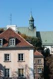 WarszawaPolen Oktober 2014 centrum med Östeuropa och modern arkitektur Royaltyfri Fotografi