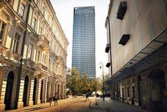 Warszawastad arkivbild