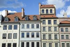 Warszawscy Targowego kwadrata domy zdjęcia royalty free