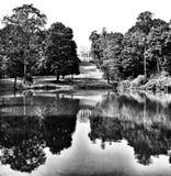 Warszawska architektura Artystyczny spojrzenie w czarny i biały Zdjęcia Royalty Free