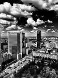 Warszawska architektura Artystyczny spojrzenie w czarny i biały Fotografia Royalty Free