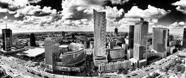 Warszawska architektura Artystyczny spojrzenie w czarny i biały Zdjęcie Royalty Free