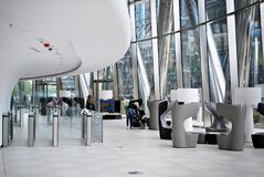 Warszawska iglica zbudować nowoczesnego urzędu zdjęcie stock