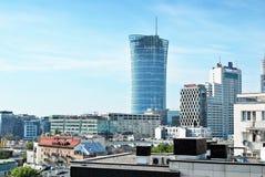 Warszawska iglica zbudować nowoczesnego urzędu Obraz Royalty Free