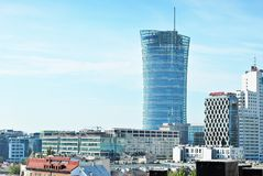 Warszawska iglica zbudować nowoczesnego urzędu Obrazy Stock