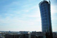 Warszawska iglica zbudować nowoczesnego urzędu Fotografia Stock