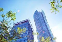 Warszawska iglica zbudować nowoczesnego urzędu Zdjęcie Royalty Free