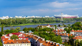 Warszawska panorama Zdjęcie Stock