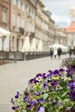 Warszawska ulica Zdjęcie Royalty Free