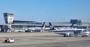 Warszawski Chopinowski lotnisko (WAW) Zdjęcie Stock