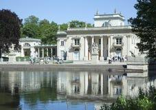Warszawski Lazienki pałac Zdjęcie Royalty Free