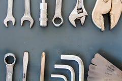 Warsztatów narzędzia z przestrzenią Zdjęcia Royalty Free
