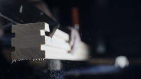 warsztat drewna Cieśli rozcięcia deska z ręką zbiory wideo