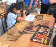 Warsztat na manufakturze produkty tradycyjna krajowa twórczość w Kolombo Sri Lanka zdjęcie royalty free