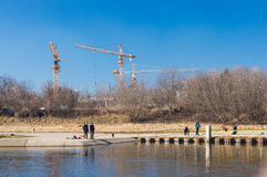 Warta river Stock Photography