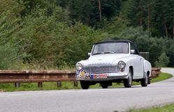 Wartburg  312 cabrio in motion Royalty Free Stock Images