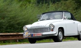 Wartburg  312 cabrio in motion Stock Photos