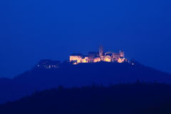 Wartburg Castle Germany. At night Stock Images