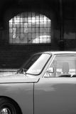 Wartburg 1000. Image of an old car in the light of the windows Royalty Free Stock Images