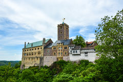 Wartburg perto de Eisenach, Alemanha imagem de stock