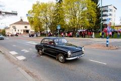 Wartburg respekt 1000 Maj parada w Sastamala dalej najpierw zdjęcie royalty free