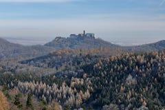 Wartburg-Schloss nahe Eisenach in Deutschland lizenzfreie stockfotos