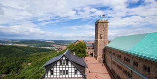Wartburg-Schloss in Thüringen, Deutschland stockbilder
