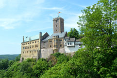 Wartburg slott i Eisenach, Tyskland Arkivfoto