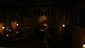 Wartburg wewnętrzny podwórze przy nocą zdjęcie wideo