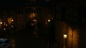 Wartburg wewnętrzny podwórze przy nocą zbiory wideo