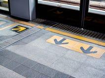 Wartebereich auf skytrain Station stockfotografie