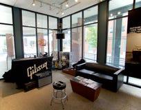 Wartebereich in Gibson Guitar Factory Memphis, Tennessee lizenzfreies stockbild